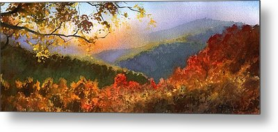 Metal Print featuring the painting Blue Ridge At Fall by Sergey Zhiboedov