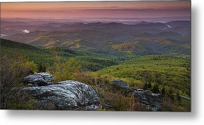 Blue Ridge Dawn Panorama Metal Print by Andrew Soundarajan