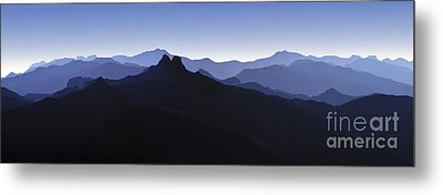 Metal Print featuring the photograph Blue Ridge Mountains. Pacific Crest Trail by David Zanzinger