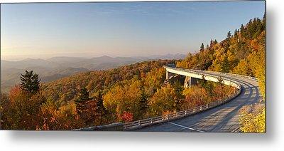 Blue Ridge Parkway Linn Cove Viaduct Fall Colors Metal Print by Dustin K Ryan