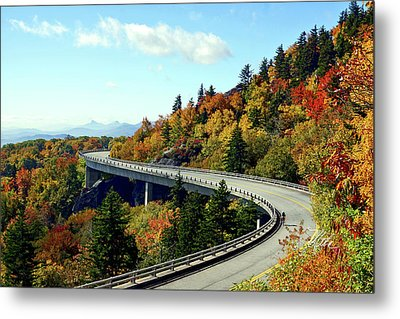 Blue Ridge Parkway Viaduct Metal Print by Meta Gatschenberger
