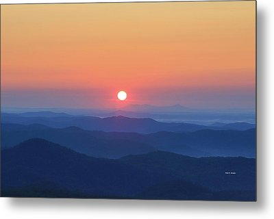 Blue Ridge Sunrise Metal Print