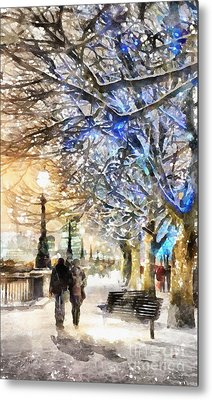 Blue Romance Metal Print by Shirley Stalter