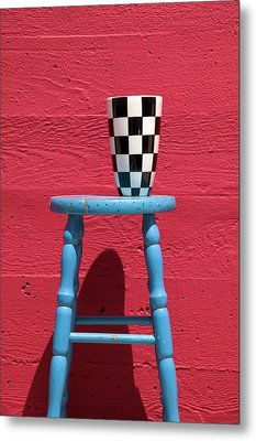 Blue Stool Metal Print