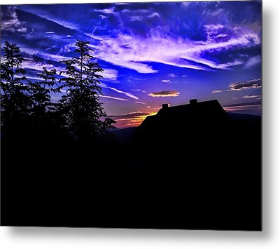 Metal Print featuring the photograph Blue Sunset In Poland by Mariola Bitner