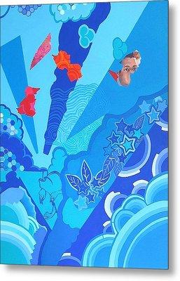 Blue That Surrounds Me Metal Print by Takayuki  Shimada