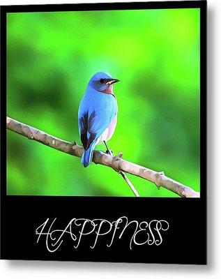 Bluebird Happiness Metal Print by Dan Sproul