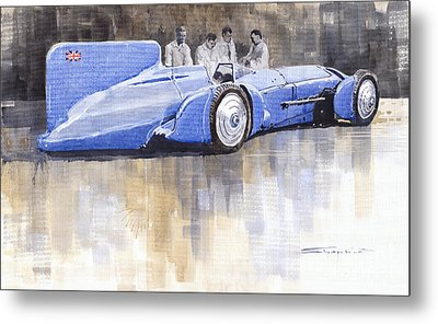 Bluebird World Land Speed Record Car 1931 Metal Print by Yuriy  Shevchuk