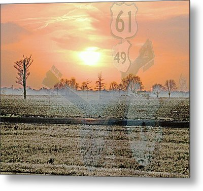 Blues Trail Metal Print