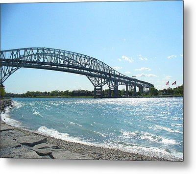 Bluewater Bridges Metal Print