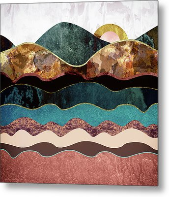 Blush Moon Metal Print by Katherine Smit