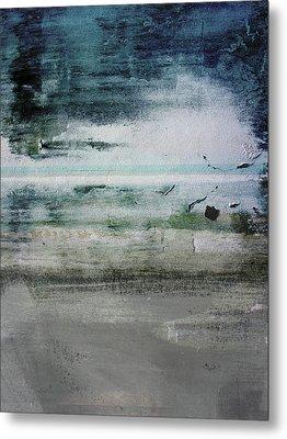 Boardwalk Blues 2- Art By Linda Woods Metal Print