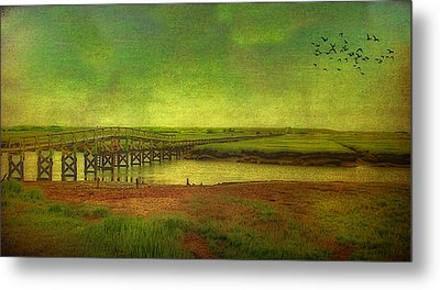 Boardwalk On Cape Cod Metal Print by Gina Cormier