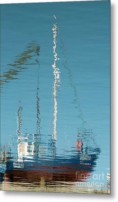 Metal Print featuring the photograph Boat Of Ripples by Wendy Wilton