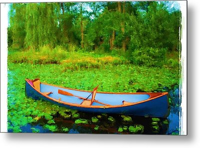 Boat On Bryant Pond Metal Print by Jonathan Galente