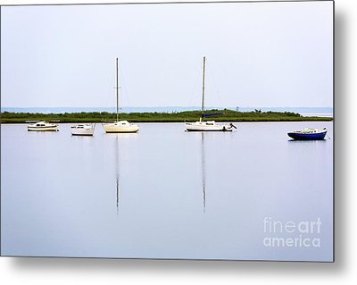 Boat Reflections Metal Print by John Rizzuto