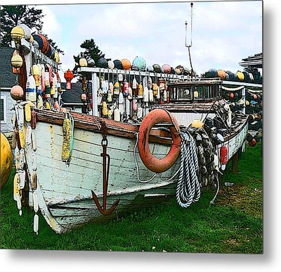 Boat Yard Metal Print by Pamela Patch