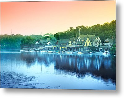 Boathouse Row Metal Print by Bill Cannon