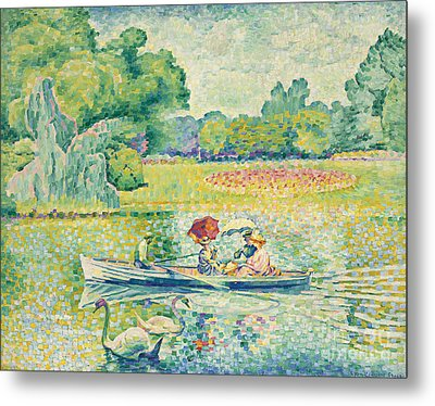 Boating In The Bois De Boulogne Metal Print