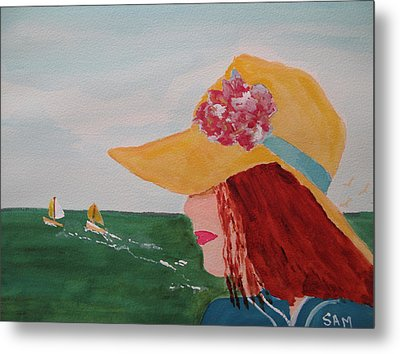 Metal Print featuring the painting Boating by Sandy McIntire