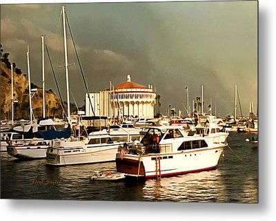 Metal Print featuring the photograph Boats Catalina Island California by Floyd Snyder