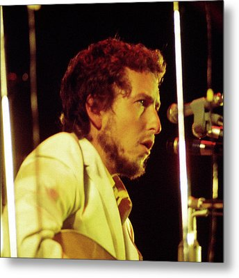 Metal Print featuring the photograph Bob Dylan 1969 Isle Of Wight No3 -square by Chris Walter