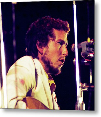 Metal Print featuring the photograph Bob Dylan 1969 Isle Of Wight No3 -square Variation by Chris Walter