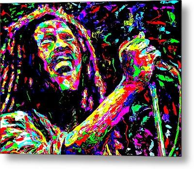 Bob Marley Metal Print by Mike OBrien