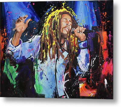 Bob Marley Metal Print by Richard Day