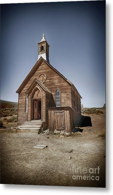 Metal Print featuring the photograph Bodie Church by Jim  Hatch