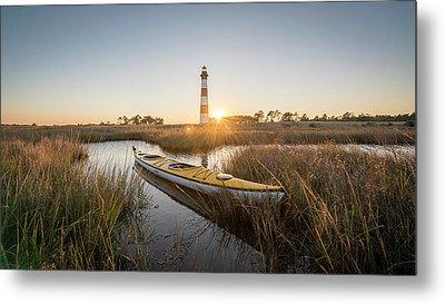 Bodie Island Kayak Metal Print