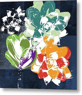 Bold Succulents 1- Art By Linda Woods Metal Print by Linda Woods