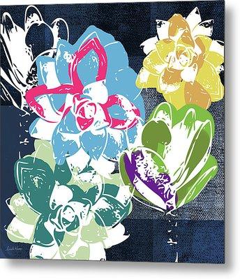 Bold Succulents 2- Art By Linda Woods Metal Print by Linda Woods