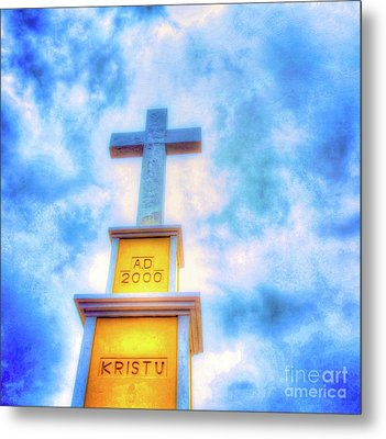 Bonaire Cross Metal Print