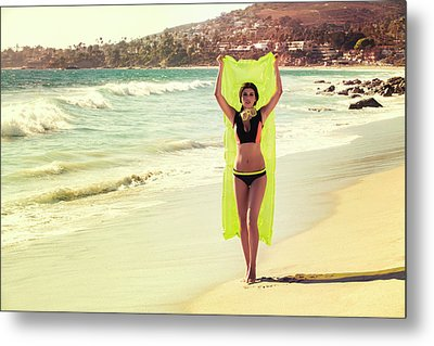 Bond Girl Laguna Beach Metal Print