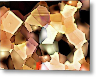 Bonded Shapes Metal Print by Ron Bissett