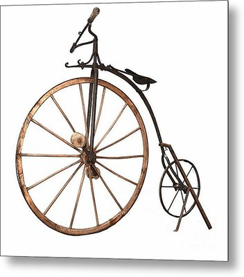 Boneshaker Bike Metal Print by Pg Reproductions