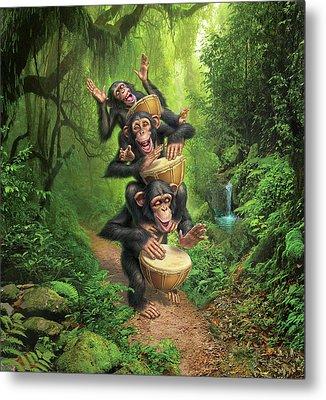 Bongo In The Jungle Metal Print