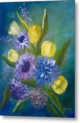 Bonnie Bouquet Metal Print by Joanne Smoley