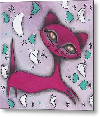 Bonnie Cat Metal Print by Abril Andrade Griffith