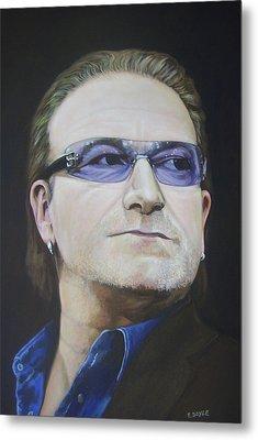 Bono Metal Print by Eamon Doyle