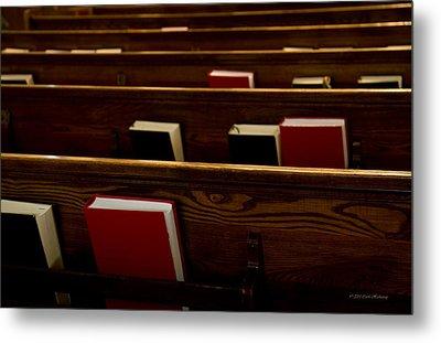 Book Of Worship I Metal Print by Carol Hathaway