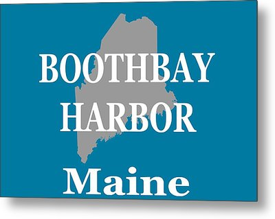 Metal Print featuring the photograph Boothbay Harbor Maine State City And Town Pride  by Keith Webber Jr