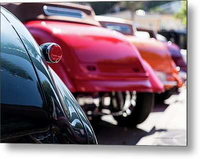 Metal Print featuring the photograph Boots Of Colorful Cars by Lora Lee Chapman