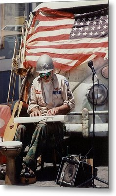 Metal Print featuring the photograph Born In The Usa by Mary-Lee Sanders