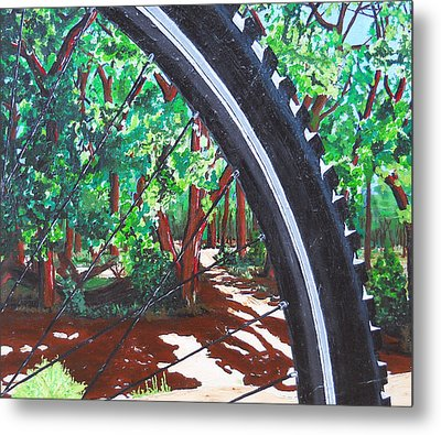 Bosque Singletrack Metal Print
