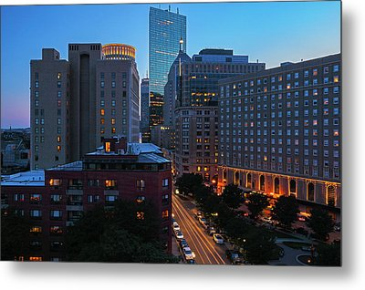Metal Print featuring the photograph Boston Back Bay Park Plaza Hotel  by Juergen Roth