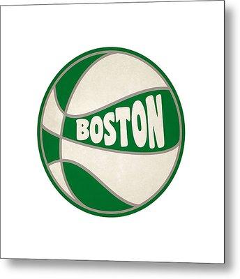 Boston Celtics Retro Shirt Metal Print