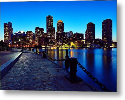 Boston Harbor Walk Metal Print by Rick Berk