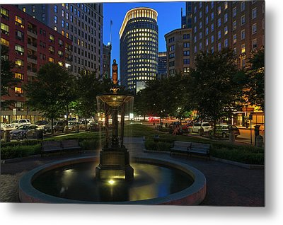 Metal Print featuring the photograph Boston Park Plaza Hotel by Juergen Roth